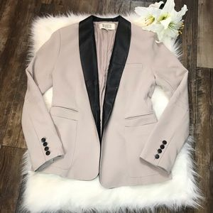 BB Dakota 100% Leather Trim Blazer Size Medium
